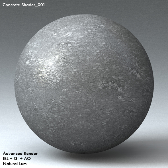 Concrete Shader_001 - 3DOcean Item for Sale