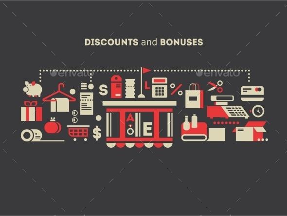 Discounts and Bonuses - Miscellaneous Vectors