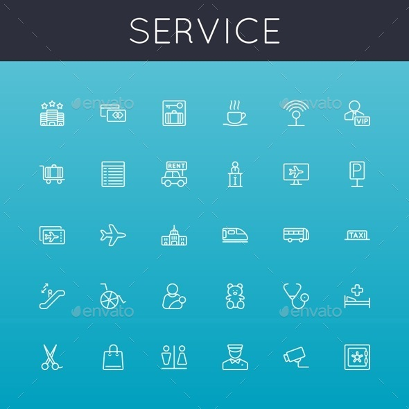 Vector Service Line Icons - Business Icons