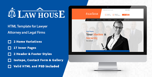 Law House - Lawyers Attorneys HTML Template