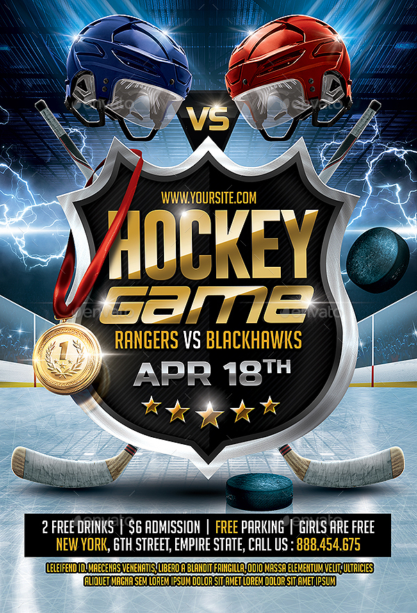 Hockey Game Flyer by SmashingFlyers | GraphicRiver