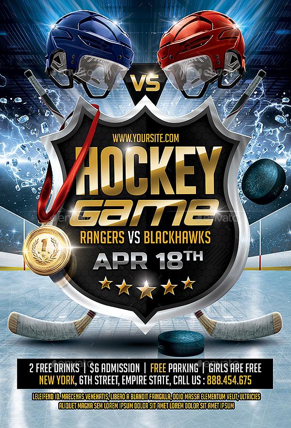 Hockey Game Flyer By SmashingFlyers
