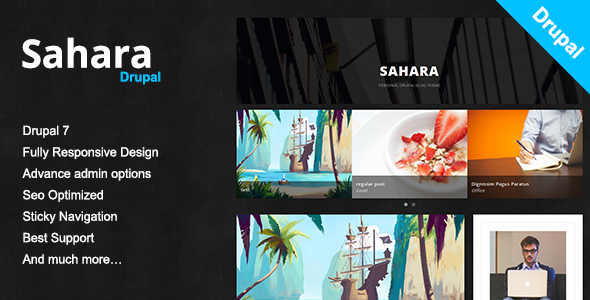 Image of  Sahara - A Clean & Responsive Drupal Blog Theme