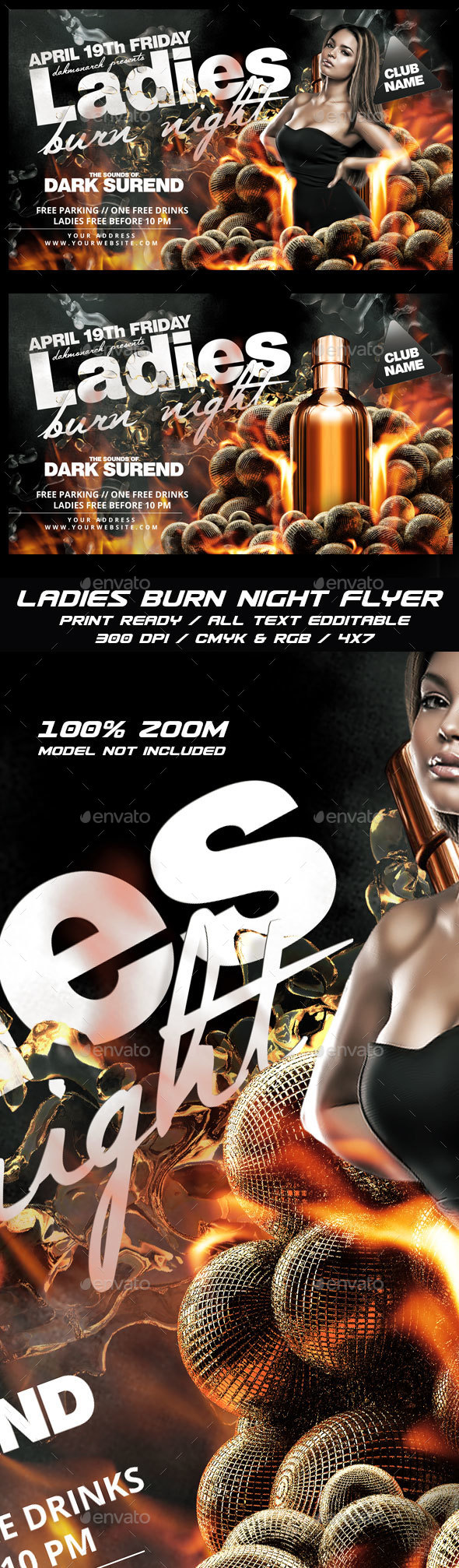 Ladies Burn Night - Clubs & Parties Events