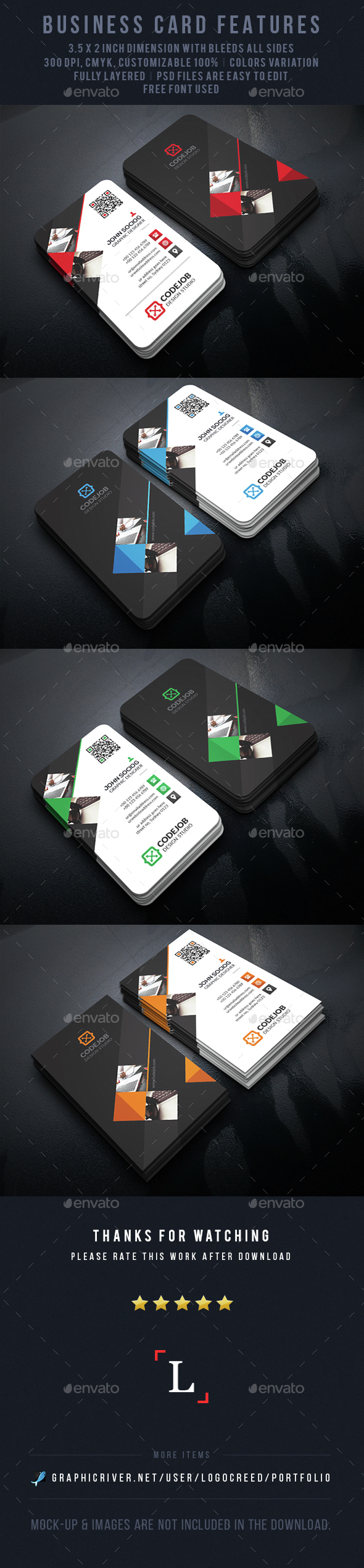 Soft Corporate Business Card - Business Cards Print Templates