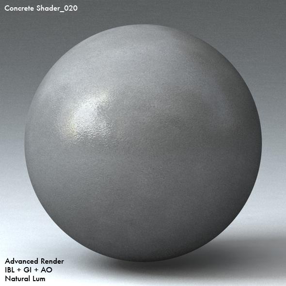 Concrete Shader_020 - 3DOcean Item for Sale