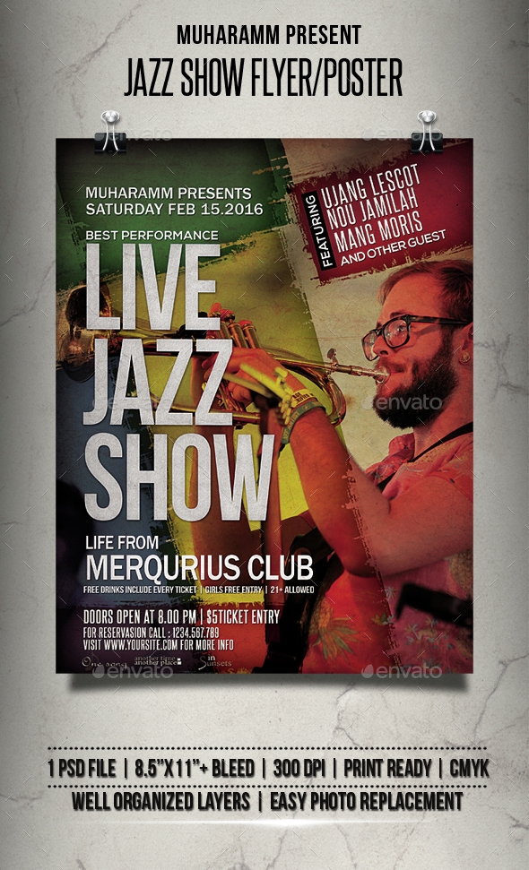 Jazz Show Flyer / Poster - Events Flyers