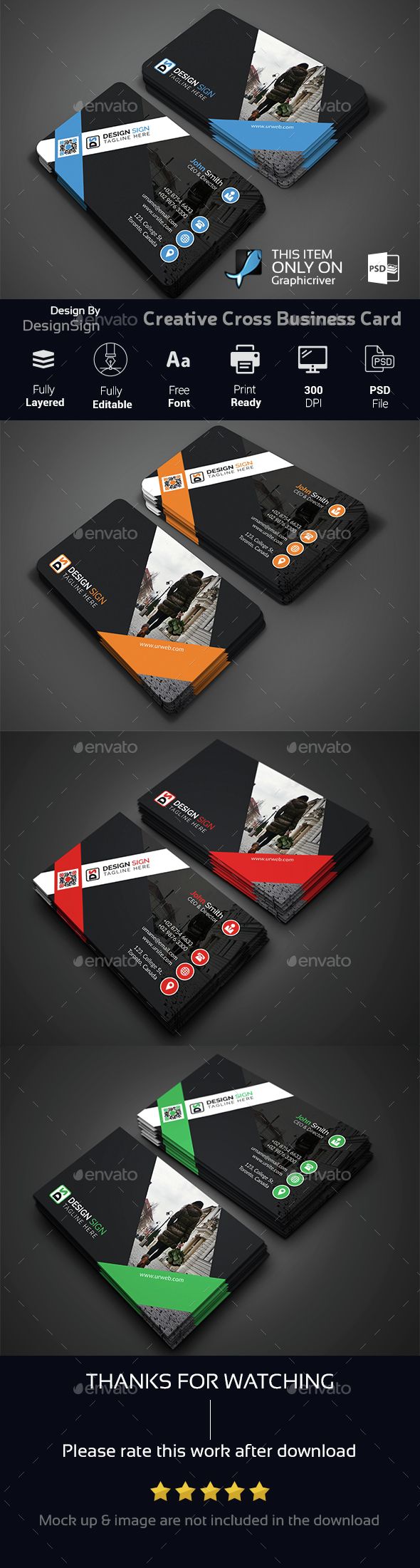 Creative Cross Business Card - Creative Business Cards