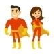 Superhero Man and Woman - GraphicRiver Item for Sale