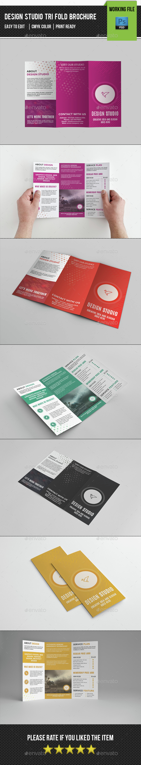 Design Studio Trifold Brochure-V279 - Corporate Brochures