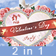 Valentine`s Day Party Flyer - GraphicRiver Item for Sale