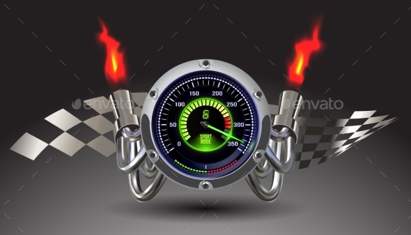 Illuminated Speedometer - Man-made Objects Objects