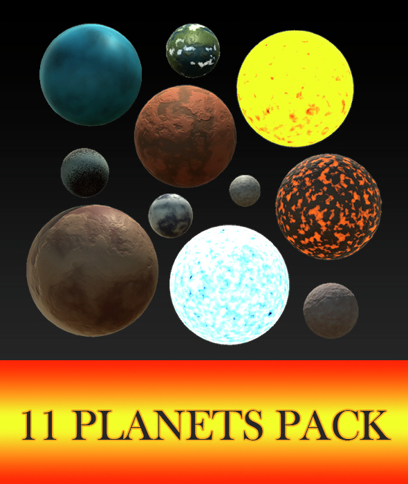 11 Planets Pack - 3DOcean Item for Sale