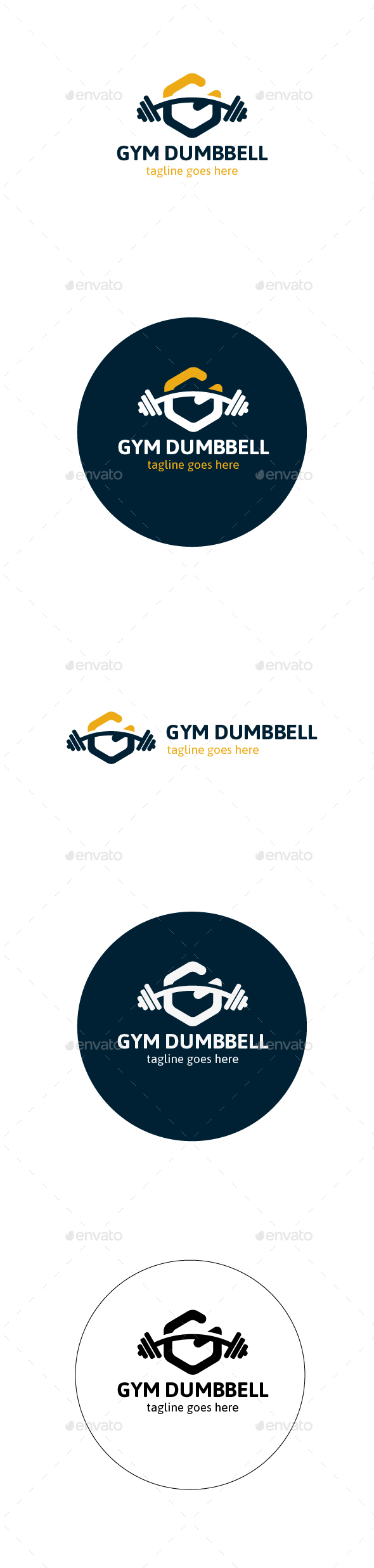 Gym Dumbbell Logo - Objects Logo Templates