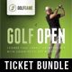 3 Golf Ticket Template Bundle