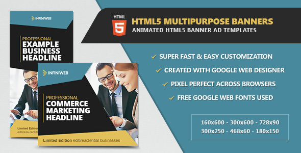 HTML5 Multipurpose Animated Banners - CodeCanyon Item for Sale