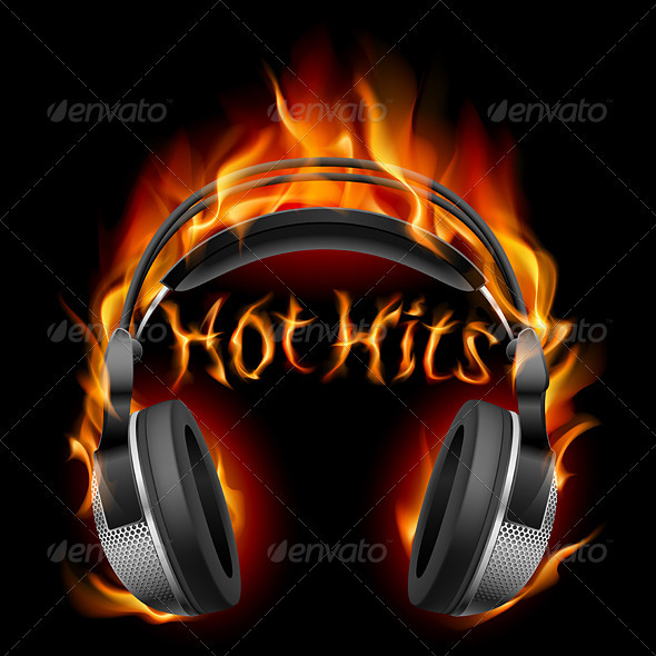 Headphones in fire - People Characters