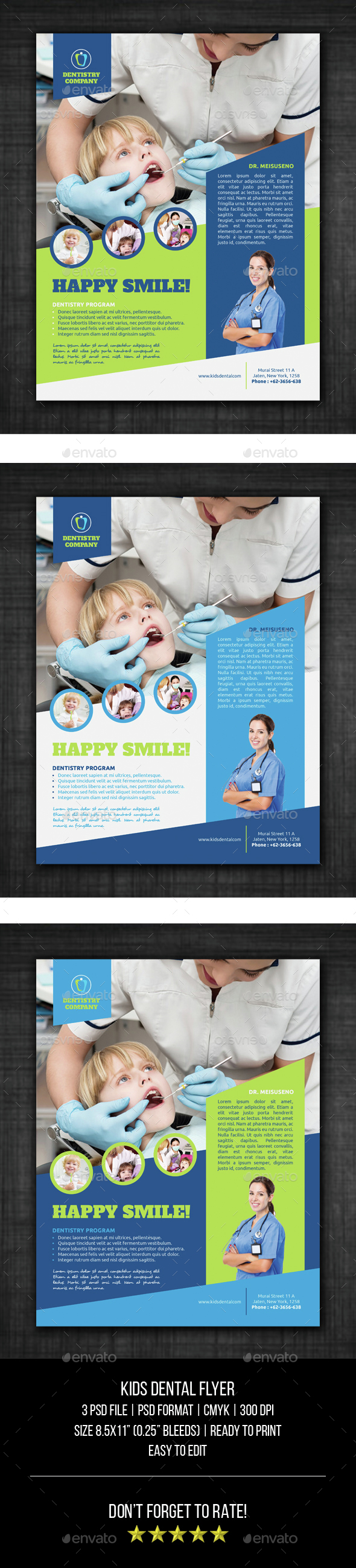 Kids Dental Flyer - Corporate Flyers