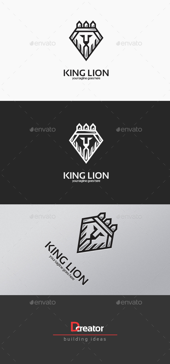 King Lion Logo - Animals Logo Templates