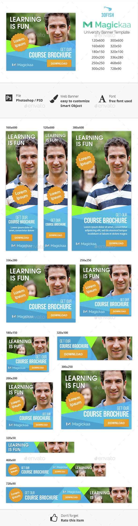 Magickaa University Banner - Banners & Ads Web Elements