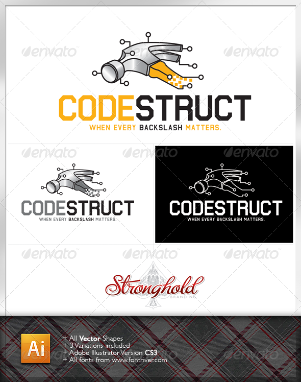 Codestruct Logo - Symbols Logo Templates