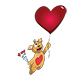 Valentine's Day Lover  Bear Cartoon Character - GraphicRiver Item for Sale