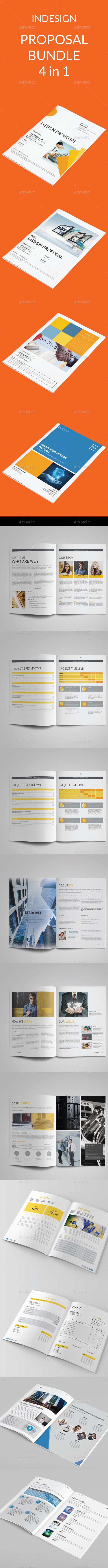 Proposal Bundle | 4 in 1 - Proposals & Invoices Stationery