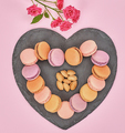 Still life, macarons, heart shape. Love concept - PhotoDune Item for Sale
