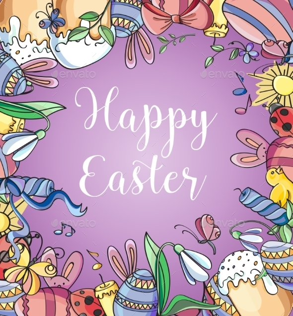 Happy Easter Background - Patterns Decorative