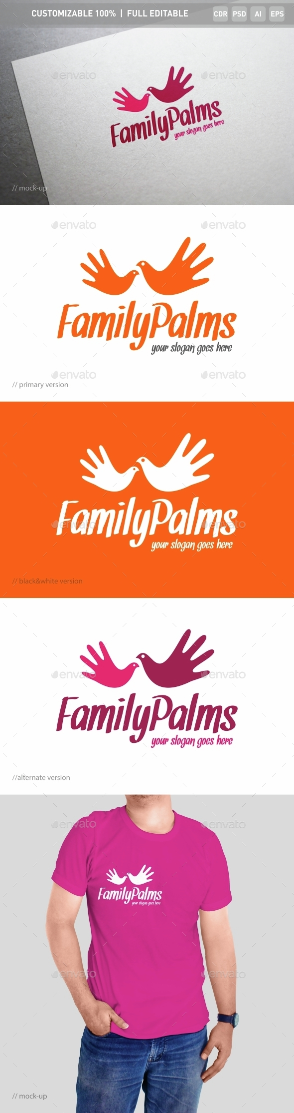 Family Palms Logo Template - Objects Logo Templates