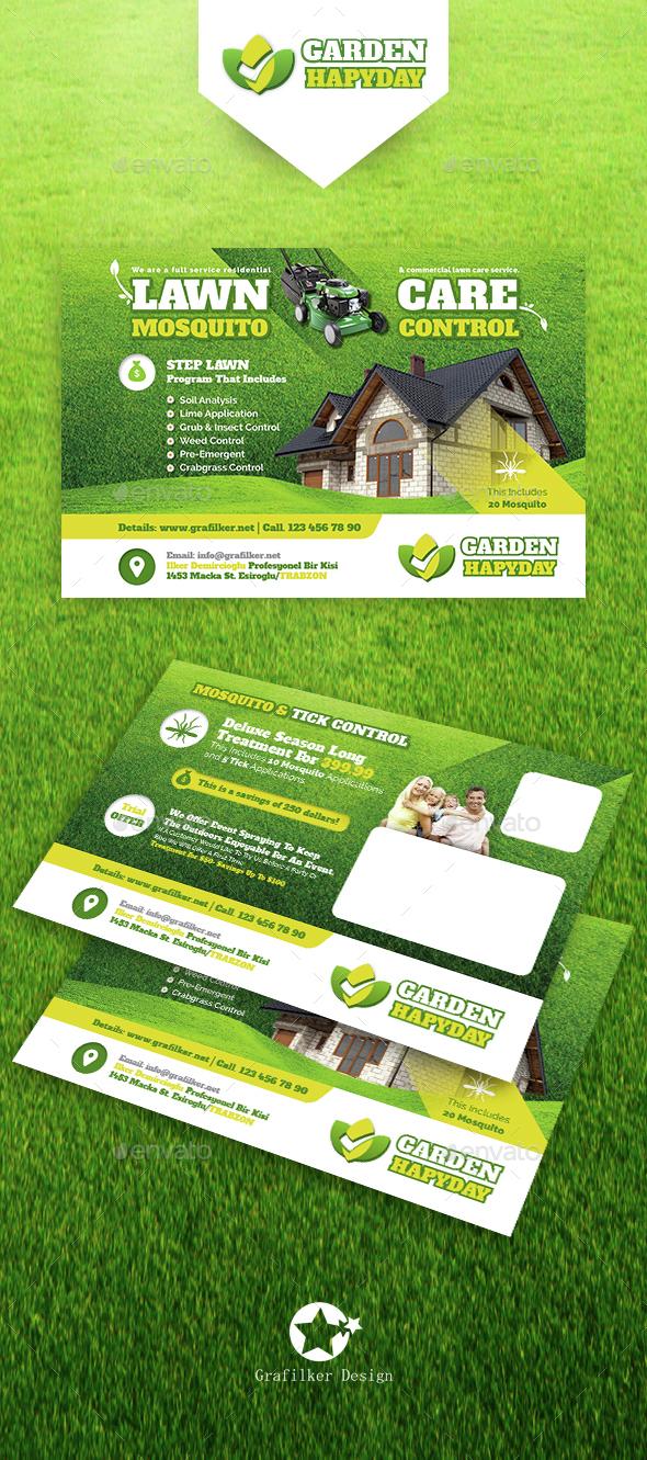 Garden Landscape Postcard Templates - Cards & Invites Print Templates