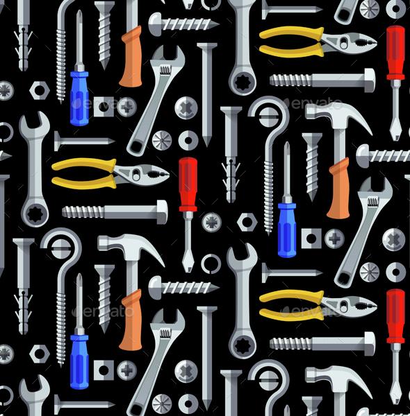 Seamless Repair Tools Pattern - Patterns Decorative