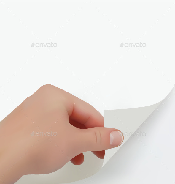 Hand Turning Page - Backgrounds Business