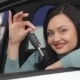 Female Showing The Key Of Her New Car - VideoHive Item for Sale
