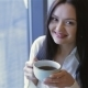A Young Attractive Woman With a Coffee - VideoHive Item for Sale