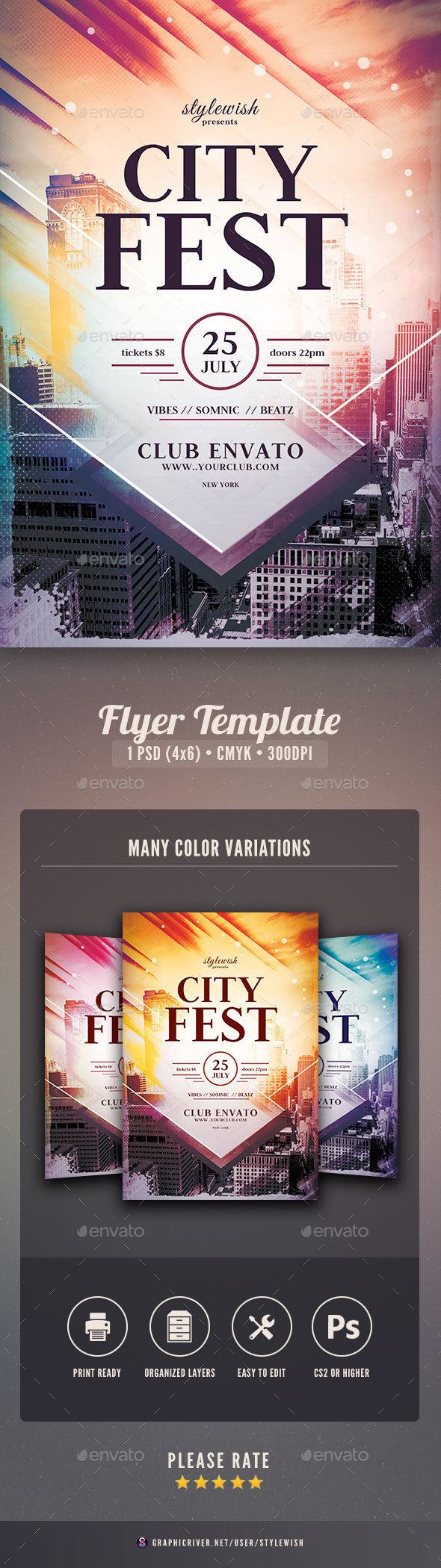 City Fest Flyer - Concerts Events