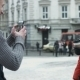 Young Man Taking Pictures Of His New Girlfriend On Smartphone Using Camera On His Mobile Device - VideoHive Item for Sale
