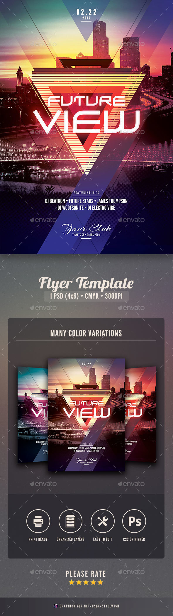 Future View Flyer - Clubs & Parties Events