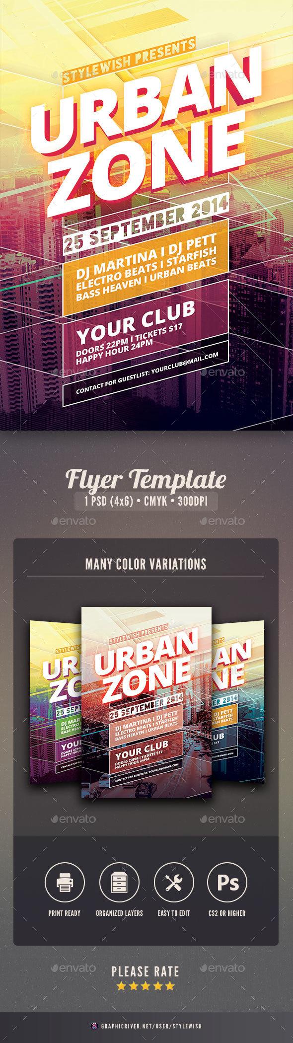 Urban Zone Flyer