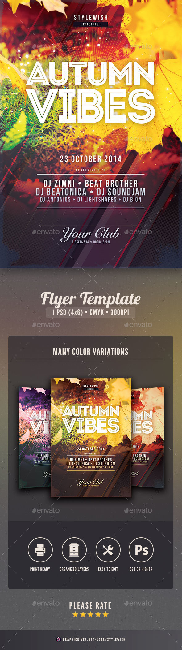 Autumn Vibes Flyer - Clubs & Parties Events