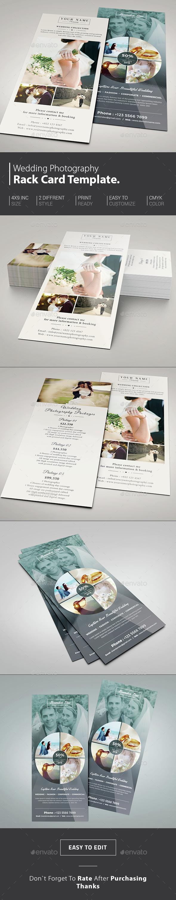 Wedding Photography Rack Card - Corporate Flyers