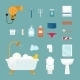 Hygiene Icons Set Isolated on White - GraphicRiver Item for Sale