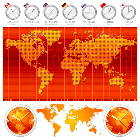 Time Zones and Clocks - Concepts Business
