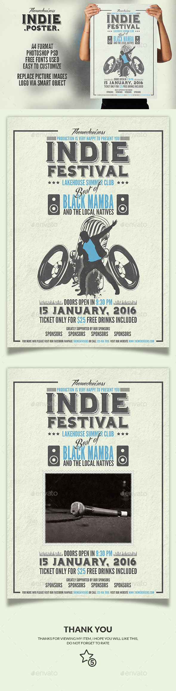 Indie Flyer / Poster - Clubs & Parties Events