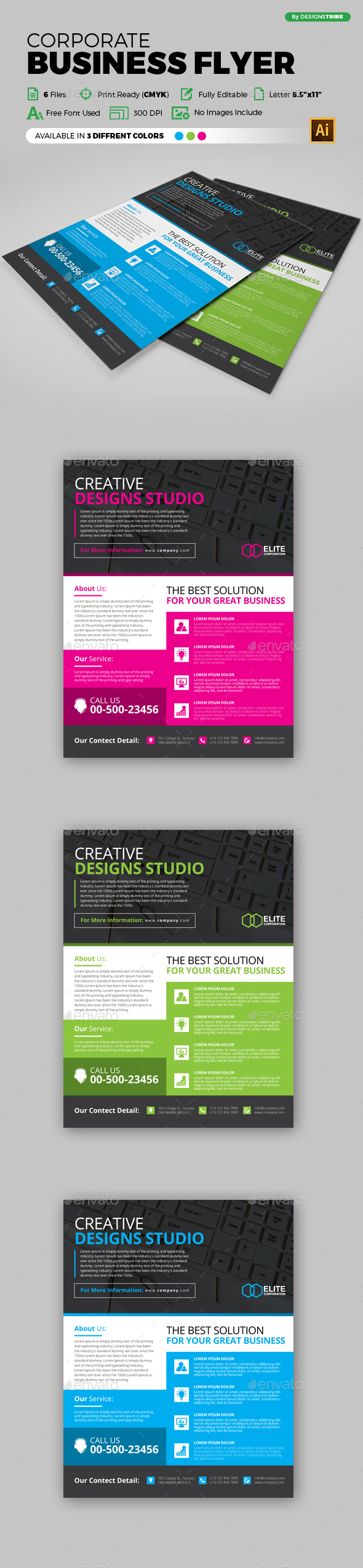 Flyer – Multipurpose 123 - Flyers Print Templates