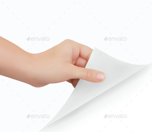 Hand Turning Page - Backgrounds Decorative