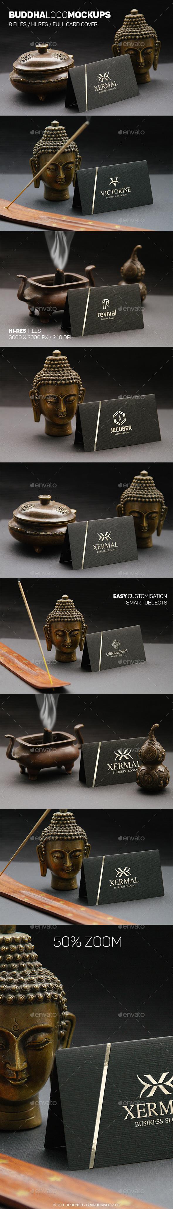 Buddha Logo Mockups - Logo Product Mock-Ups