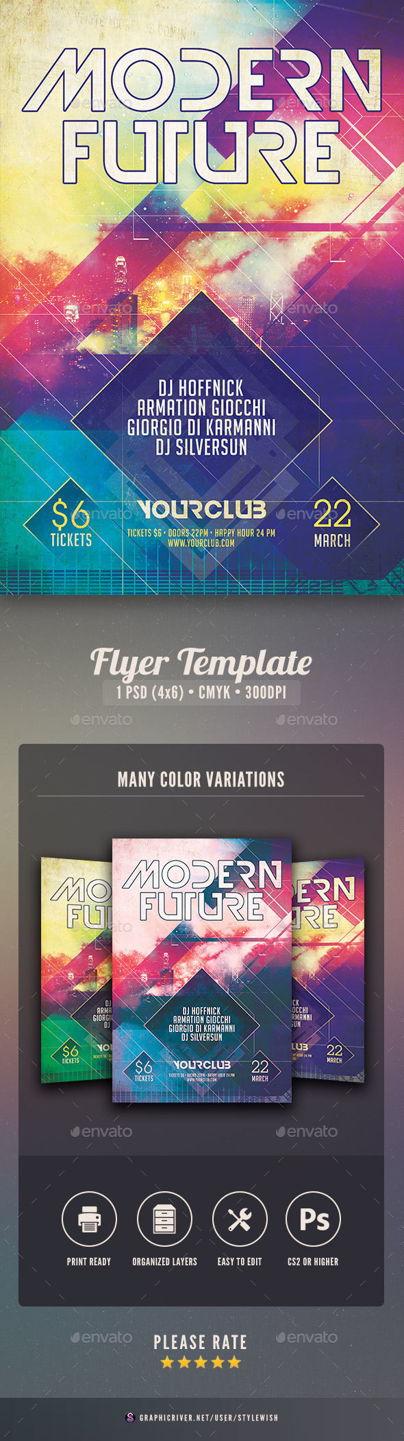 Modern Future Flyer - Clubs & Parties Events