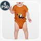 Baby Short Sleeve Mock-up - GraphicRiver Item for Sale