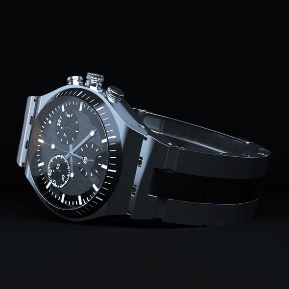 Realistic watch model + scene setup - 3DOcean Item for Sale